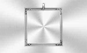 Panel de Aluminio Dibond Butlerfinish cepillado con bastidor de aluminio:FINE ART FOTO