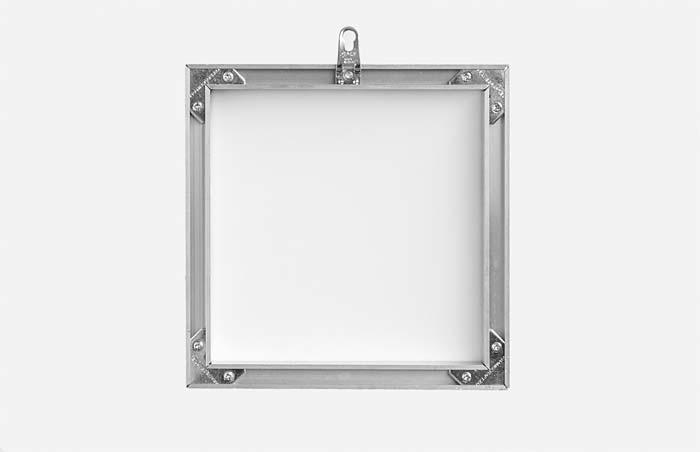 Bastidor de aluminio lacado en blanco para Dibond con colgador: FINE ART FOTO