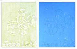 certificado de autenticidad Hahnemühle con filigrana y fibras fluorescentes:FINE ART FOTO